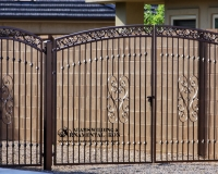 Heart scolls driveway gate