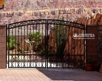 Ornamental driveway gate
