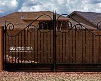 large scroll driveway gate