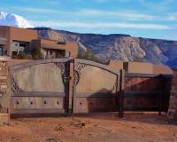 Spanish ranch driveway gate