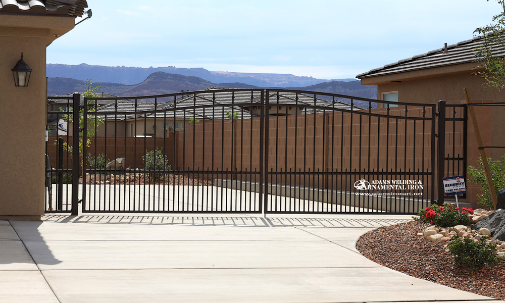 Driveway Gates - ADAMS WELDING & ORNAMENTAL IRON