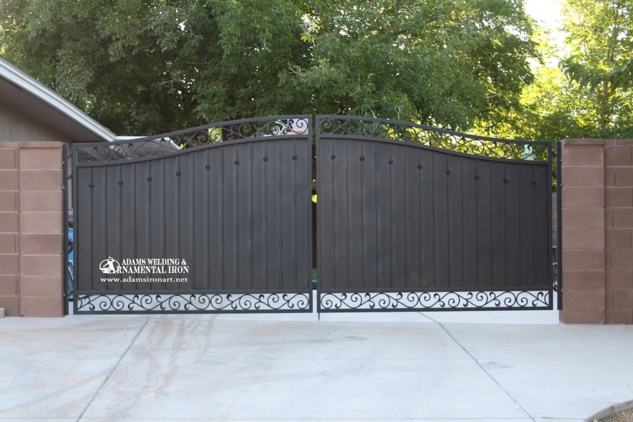 forged steel scroll Gate