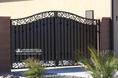 driveway gate with solid steel back comp