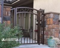 bronze courtyard gate