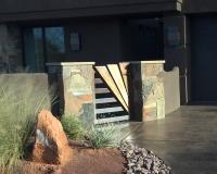 copper patina gate