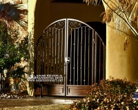 curved gate with arch