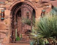 rust patina courtyard gate