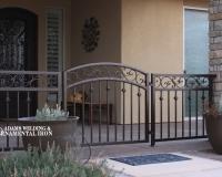 iron scroll gate