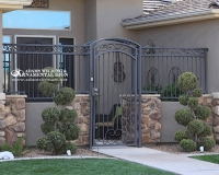 security gate forged scrolls