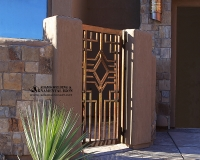 copper patina south west walkway gate