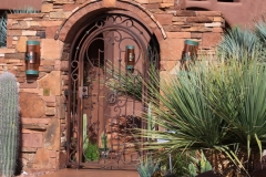 rust patina courtyard gate
