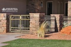 Southwest courtyard fence