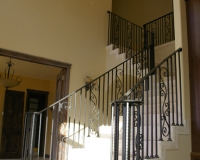 hand forged stair railing