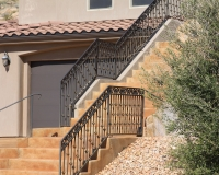 Ornamental iron stair rail