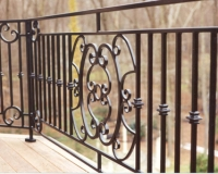 railing with panels