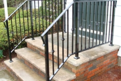 Stair railings with collars