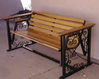 ornamental steel bench