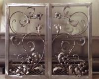 hand forged blacksmith metal craft flower panel