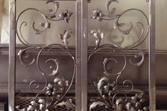 hand forged blacksmith metal craft flower panel