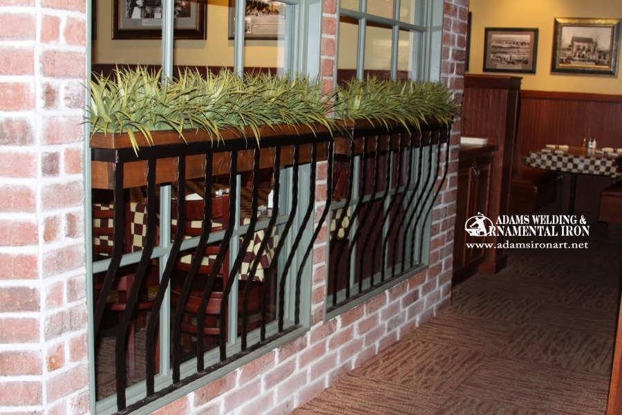 steel window planter