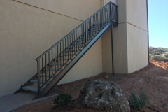 steel and precast concrete stairs