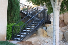 concrete stairs with steel stingers